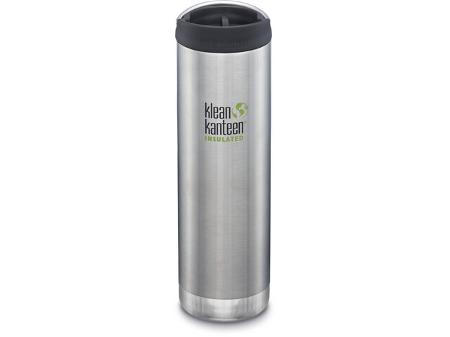 Klean Kanteen TKWide Bottle with Cafe Cap 592ml Vacuum Insulated brushed stainless